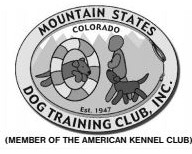 Mountain States Dog Training Club